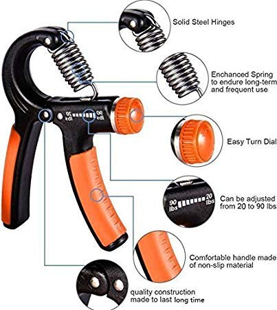 Sporto Fitness Home Gym Set 11 Hand Gripper (Multicolor)