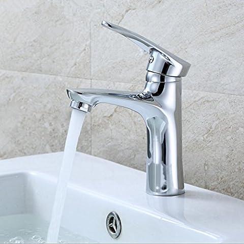 WP- Un solo agujero del grifo de cobre control dual caliente y fría del grifo del lavabo