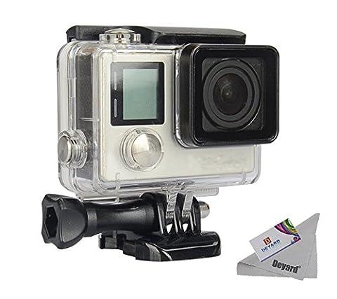 Deyard Wasserfestes Gehäuse mit Schnellspann-System und Daumenschraub für die GoPro Hero 4 und Hero3+ Action Cam for GoPro Hero 4 and Hero 3+ Action Camcorder - 30m Unterwasser-Fotografie