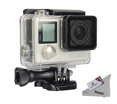 Deyard Waterproof Housing Case with Quick Release Mount and Thumbscrew for GoPro Hero 4 and Hero 3+ Action Camcorder - 40 Meters Underwater Photography Test