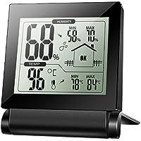 Xintop Igrometro Termometro Digitale Termoigrometro LCD con L'Icona di Comforto e le Memorie di Temperatura e Umidità nelle 24 Ore e la Funzione di Autoazzeramento per per Interno, Serra, Stanza, Casa