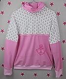 pinkeSterne ☆ Pullover Mädchen Pulli Hoodie Wunschgröße Kragenpulli Stickerei Anker Maritim Rosa Pink Streifen