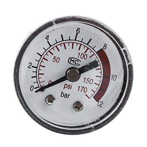 SODIAL (R) 0-12 Bar 0-170 PSI 10 mm Gewinde Gas Luftpumpe Druck Gauge Kompressor Manometer