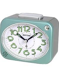 Rhythm Value Added Bell Alarm Clock Bell Alarm,Snooze,Light,Silky Move Analog (10.9x9.2x6.6cm)