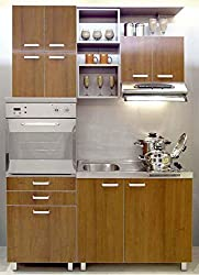 Yes Kitchen Compact Smart Kitchen Length 5 Width 2 Feet and Height 7 Feet