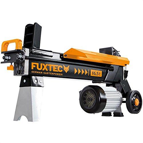 FUXTEC Holzspalter 6,5 t FX-HS16 liegend mit 230V Hydraulikspalter Langholzspalter Brennholzspalter 6,5 tonnen