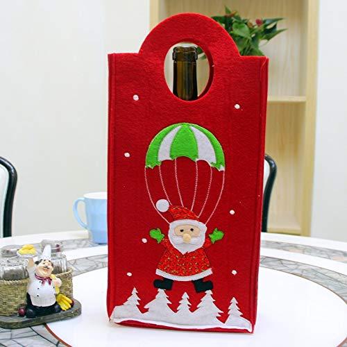Laifeng ZIMO, Weihnachten Stickerei Snowman Weihnachts Verticle Art Weinflasche Tasche, zufällige Farbe Lieferung, Größe: 31 * 17 * 7cm