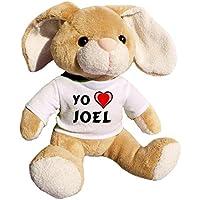 Shopzeus Conejito de Peluche (Juguete) con Amo Joel en la Camiseta (Nombre de