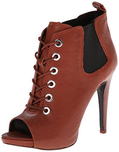 Nine West Women s Elekra Boot Cognac/Black 5.5 B(M) US image
