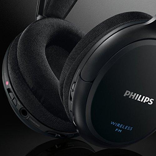 Philips SHC5200/10 kabelloser HiFi Kopfhörer schwarz - 2