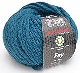 Austermann Wolle Fey Fb. 15 - Petrol, Super Chunky Wolle mit 70% Schurwolle und 30% Alpaka
