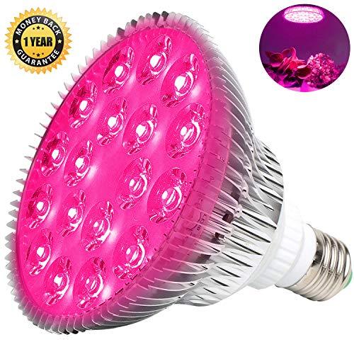LED Pflanzenlampe E27 54W Pflanzenlampe Led Vollspektrum Pflanzenlampen MILYN Grow Light Lampe Pflanzenlicht Pflanzenleuchte Wachstumslampe für Garten Gewächshaus Zimmerpflanzen Gemüse und Blumen