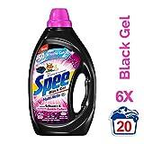 Spee Black Gel, Colorwaschmittel flüssig für schwarze Wäsche, 6er Pack (6 x 20 Waschladungen)