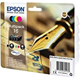 Epson 16 Durabrite Ultra Ink, Four colours, Multipack