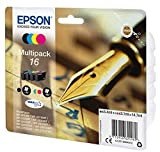Epson EasyMail C13T16264511 Durabrite Ultra Ink, Assorted Colours, Multi-Pack 16, Amazon Dash Replenishment Ready