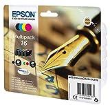 Epson Original C13T16264511 Füller, wisch- und wasserfeste Tinte (Multipack, 4-farbig) (CYMK)