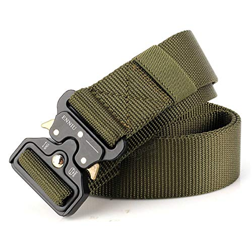 Tactical Belt of Military Style of Fixation and Quick Release of Alsace & Concept, Molle System, of Nylon, Training, Hunting, Security, Outdoor Sports (Green)