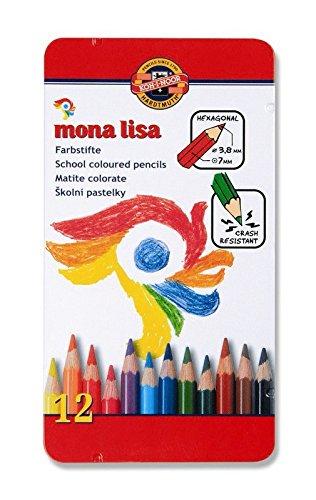 Polycolor Künstler Farbstifte feinster Qualität von KOH-I-NOOR 12er Set Metallbox