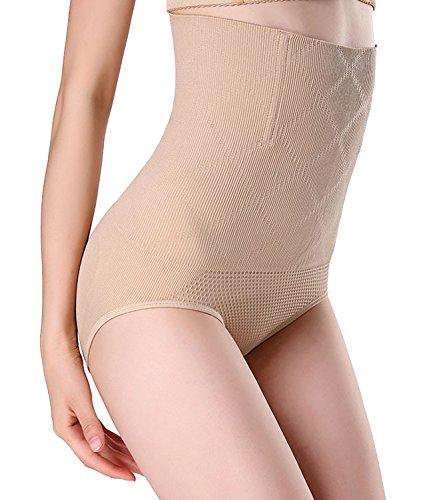 SEXYWG Damen Nahtlose Unterwäsche Hohe Taille Butt Lifter Shapewear Schlüpfer mit Bauch Weg Effekt Miederpants Figurenformend Miederslip (Bauch-tanzen-kleidung)