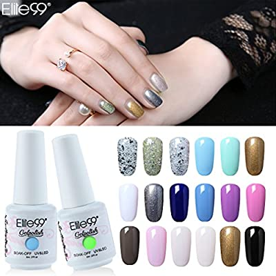 Elite99 Gelpolish Soak Off UV LED Gel Nail Polish Lacquer 8ml French White (1323)