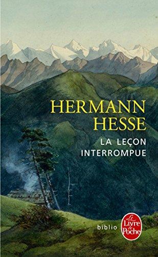 La Leçon interrompue par Hermann Hesse