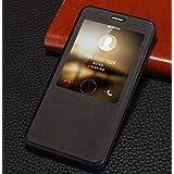 PREVOA ® 丨Xiaomi Redmi Note 4 Funda - Flip PU S - View Funda Case Protictive para Xiaomi Redmi Note 4 Pro Prime 5,5 Pulgadas Sartphone - Negro