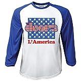 Rockoff Trade Herren T-Shirt La'America Raglan Baseball, Weiß (White), XXL