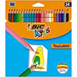 BIC Kids Tropicolors - Blíster de 24 lápices de colorear s...