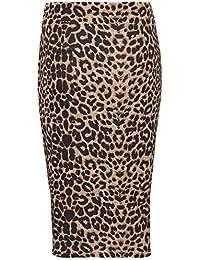 e7105d6ec51 Zaif   Hari New Women s Ladies Printed Stretchy Pencil Bodycon Wiggle MIDI Skirt  Plus Size 8
