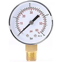 Manómetro para combustible, aire, aceite o agua 0-4 bar/0-