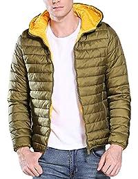 5e464b28a228c4 Giaccone Piumino Uomo Invernale, Rcool Basic Giacca Maniche Lunghe Cappotto  Caldo Slim Fit Cappotti Giubbotto