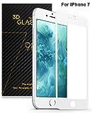 SENDIS Film de Protection d'Écran 3D Incurvé Vitre en Verre Trempé pour Apple iPhone 7 - Film Protecteur Transparent Anti-casse Anti-rayures sans Bulles Haute Définition ( Blanc et Transparent )