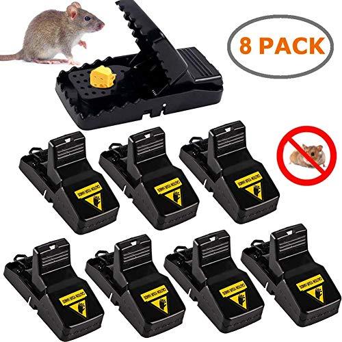 CreBeau Mausefalle, 8 Stück Profi-MäUsefalle Rattenfalle Köder Schlagfalle, effizient, einfaches Aufstellen und wiederverwendbar Mäusefalle Schlagfalle In Haus Und Garten