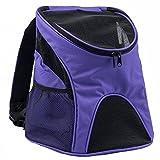 Maxmer Mochila de Perro Capazo Perro Bolsa Mascotas para Cachorro, Color Púrpura, Tamaño L Carga 5KG