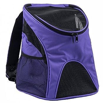 Maxmer Sac à Dos de Transport Chien Chat Nylon avec Fenêtre de Maille Léger Pratique pour Garder Animal Sécurisé Confortable - Violet