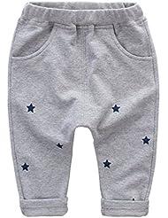 Bebé Niños Niñas pantalones largo deporte harem de Casuales holgado pantalones con cintura elástica algodón comódo con patrón de estrella