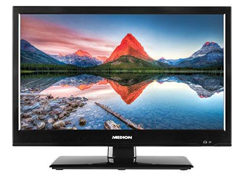 MEDION LIFE P13173 MD 21438 39,6 cm (15,6 Zoll HD) Fernseher (LED Backlight-TV, Triple Tuner, DVB-T2 HD, CI+, HDMI, KFZ Car Adapter, Mediaplayer) schwarz