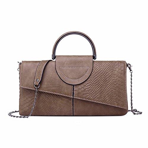 le donne sono clutch bag, grandi capacità spalla borsa, new wild borsa,bianco e nero, colori luce del caffè