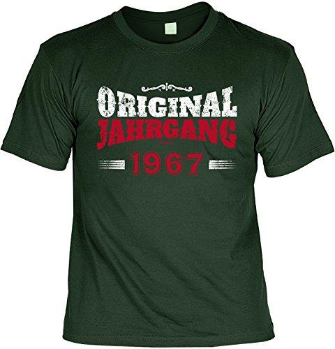Cooles T-Shirt zum 50. Geburtstag Original Jahrgang 1967 Geschenk 50 Geburtstag 50 Jahre Geburtstagsgeschenk 50-jähriger Dunkelgrün