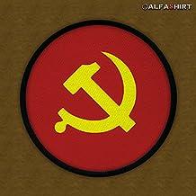 Patch, toppa–Martello Falce Comunisti VOLK persone Unione Sovietica Rote Esercito Militare Stemma Distintivo kalter Guerra # 12458