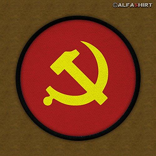 Patch / Aufnäher -Hammer Sichel Kommunisten Volksleute Sowjetunion Rote Armee Militär Wappen Abzeichen Kalter Krieg #12458