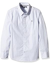 TOMMY HILFIGER KIDS Sunland Print Shirt L/S, Camisa para Niños, Azul, 16