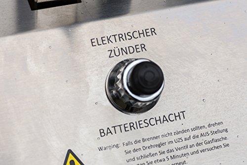 El Fuego® Gasgrill Nürnberg, Silber, 179x104x70 cm -