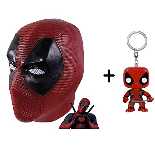 SEJNGF Deadpool Maske Männer Kostüm, Film DP Cosplay Kostüm Latex Replik Maske Kopf Cosplay, Halloween Maske (Kopfumfang: 57-62 - Wirklich Gute Scary Kostüm