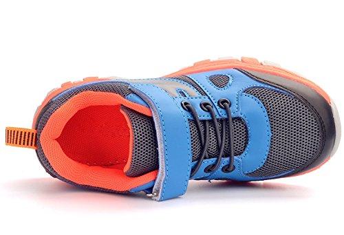DADAWEN Unisex-Kinder/Erwachsene Outdoor Atmungsaktive Sportschuhe Grau