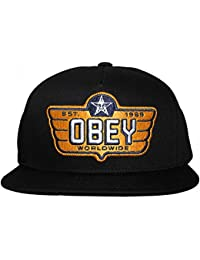 Obey - Casquette Snapback Homme Wings - Black