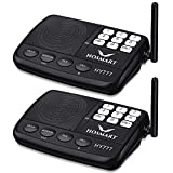 Hosmart LONG RANGE 7-Kanal Digital Wireless Intercom System f¨¹r Haus und B¨¹ro(2 Stationen)