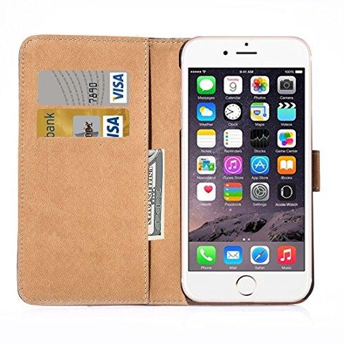 Hülle für iPhone 7 plus , Schutzhülle Für iPhone 7 Plus Horizontale Flip Echtes Leder Tasche mit Halter & Card Slots & Wallet ,hülle für iPhone 7 plus , case for iphone 7 plus ( Color : Red ) Brown