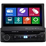 TUVVA KSD7843B - Reproductor para coche con pantalla táctil 7 '' (Reproductor DVD / CD / USB / AUX-IN / MP4 / MP3, rádio, RDS Bluetooth Streaming, Manos libres)