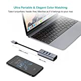 QacQoc USB C Hub Ethernet Adapter, USB C to RJ45 10/100/1000Mbps Gigabit Ethernet with 3 USB 3.0 Ports for MacBook/MacBook Pro 2016/2017, Chromebook, Samsung Galaxy Tab Pro S and More Devices (Grey) Bild 4